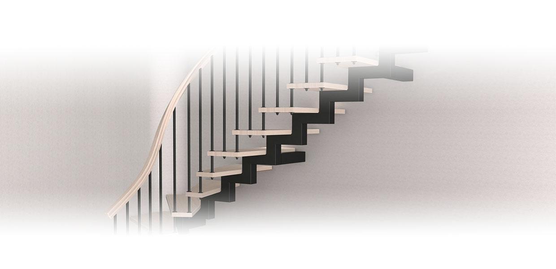 Лестницы на косоуре