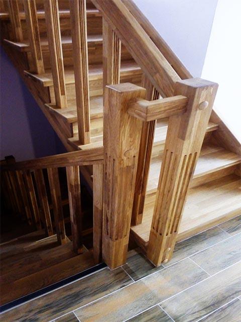 Изготовление лестниц из дуба