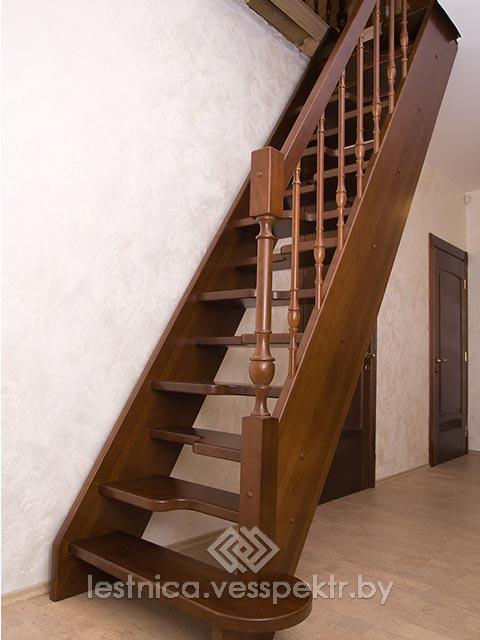 Комбинированная лестница гусиный шаг