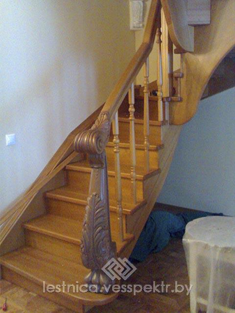Комбинированная лестница из массива