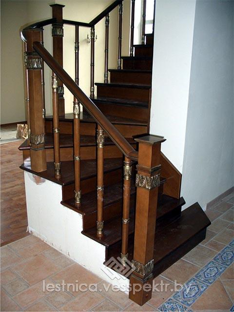 Комбинированная лестница премиум сегмента