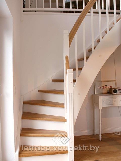 Комбинированная лестница бетон дерево