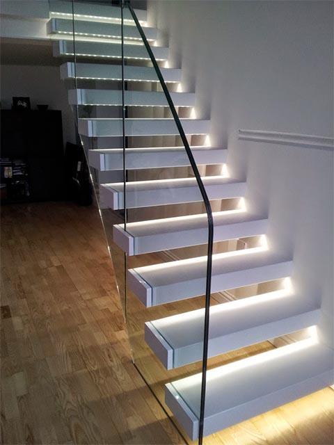 Лестницы со стеклом фото