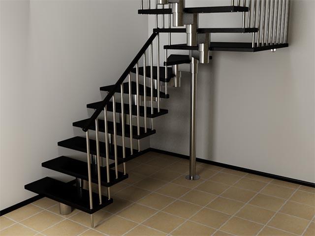 Модульные лестницы на второй этаж