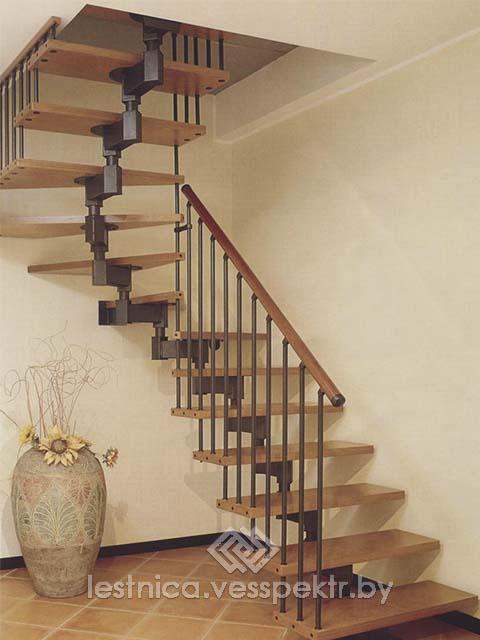 Модульные лестницы в доме на второй этаж