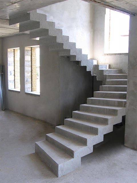 Проектирование монолитных лестниц