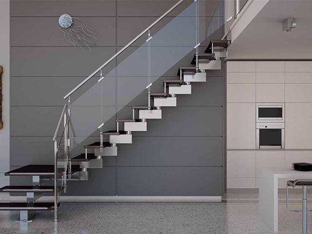 Стеклянные перегородки лестниц