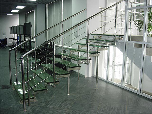 Цена на стеклянные лестницы